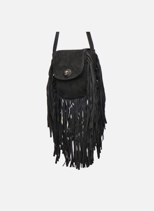 Sacs pochettes Pieces Pusle Suede Cross Body Bag Noir vue portées chaussures