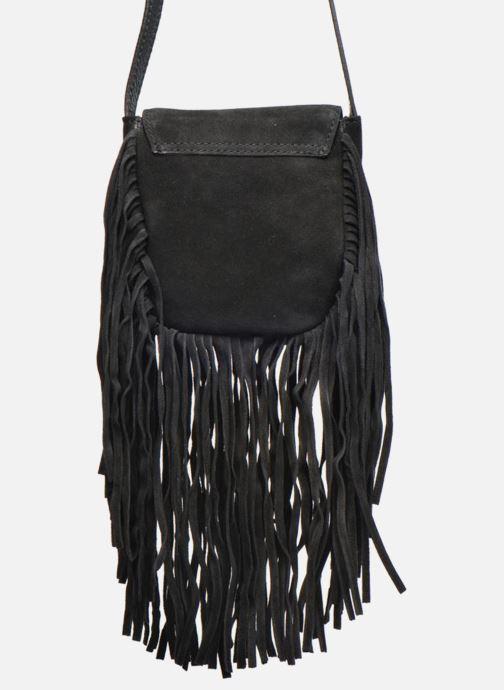 Clutch Pieces Pusle Suede Cross Body Bag Zwart voorkant
