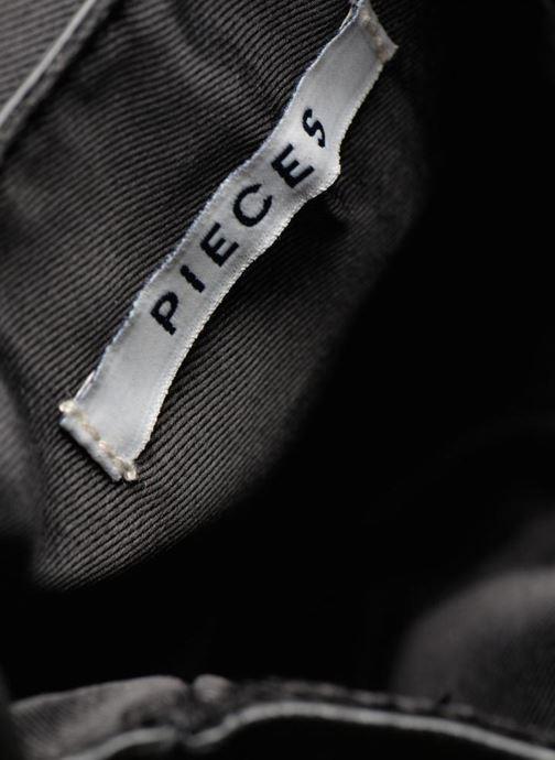 Bolsos Clutch Pieces Pusle Suede Cross Body Bag Negro vistra trasera