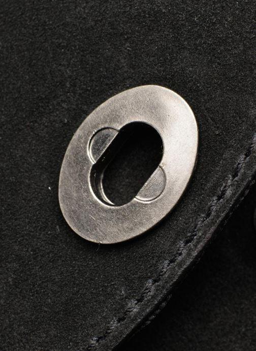 Bolsos Clutch Pieces Pusle Suede Cross Body Bag Negro vista lateral izquierda