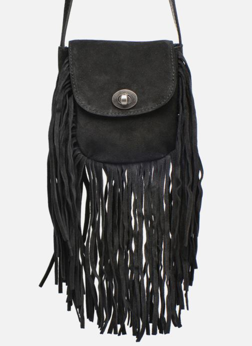 Clutch Pieces Pusle Suede Cross Body Bag Zwart detail