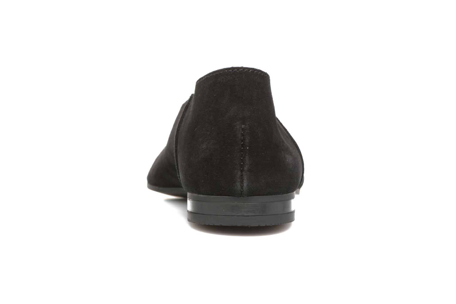 Ballet pumps Pieces Palentina Suede Ballarina Black Black view from the right
