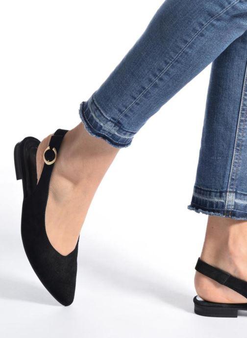 Pix Pieces Ballerines Suede Black Shoe qzMSUpV