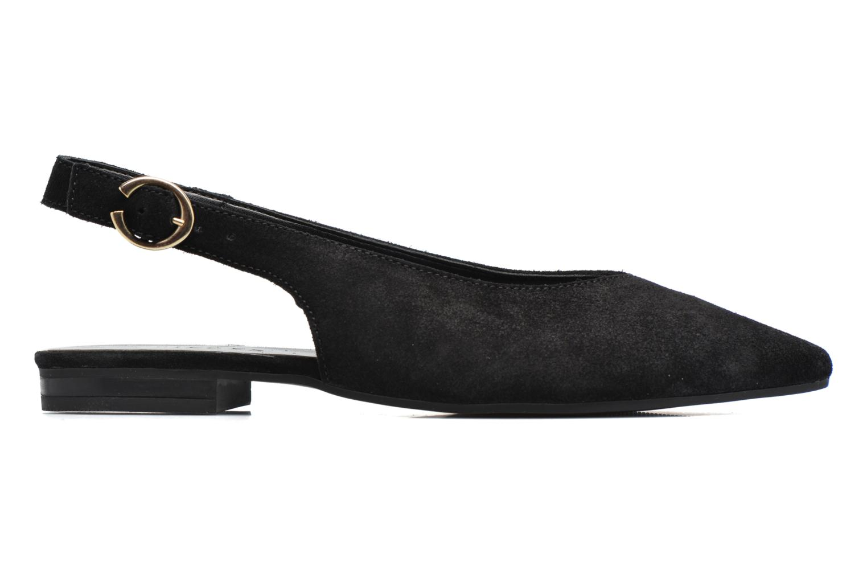 Bailarinas Pieces Pix Suede Shoe Black Negro vistra trasera