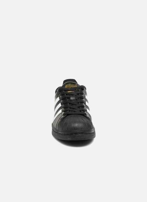 Sneaker adidas originals Adidas Superstar Foundation schwarz schuhe getragen