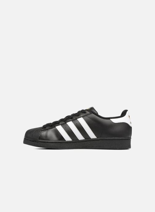 Sneaker adidas originals Adidas Superstar Foundation schwarz ansicht von vorne