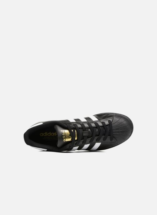 Sneaker adidas originals Adidas Superstar Foundation schwarz ansicht von links