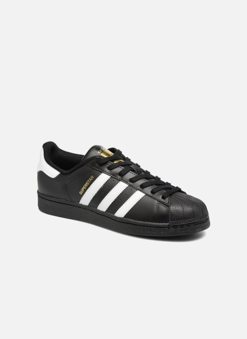 sneakers for cheap 382fb 13ea9 Baskets adidas originals Adidas Superstar Foundation Noir vue détail paire