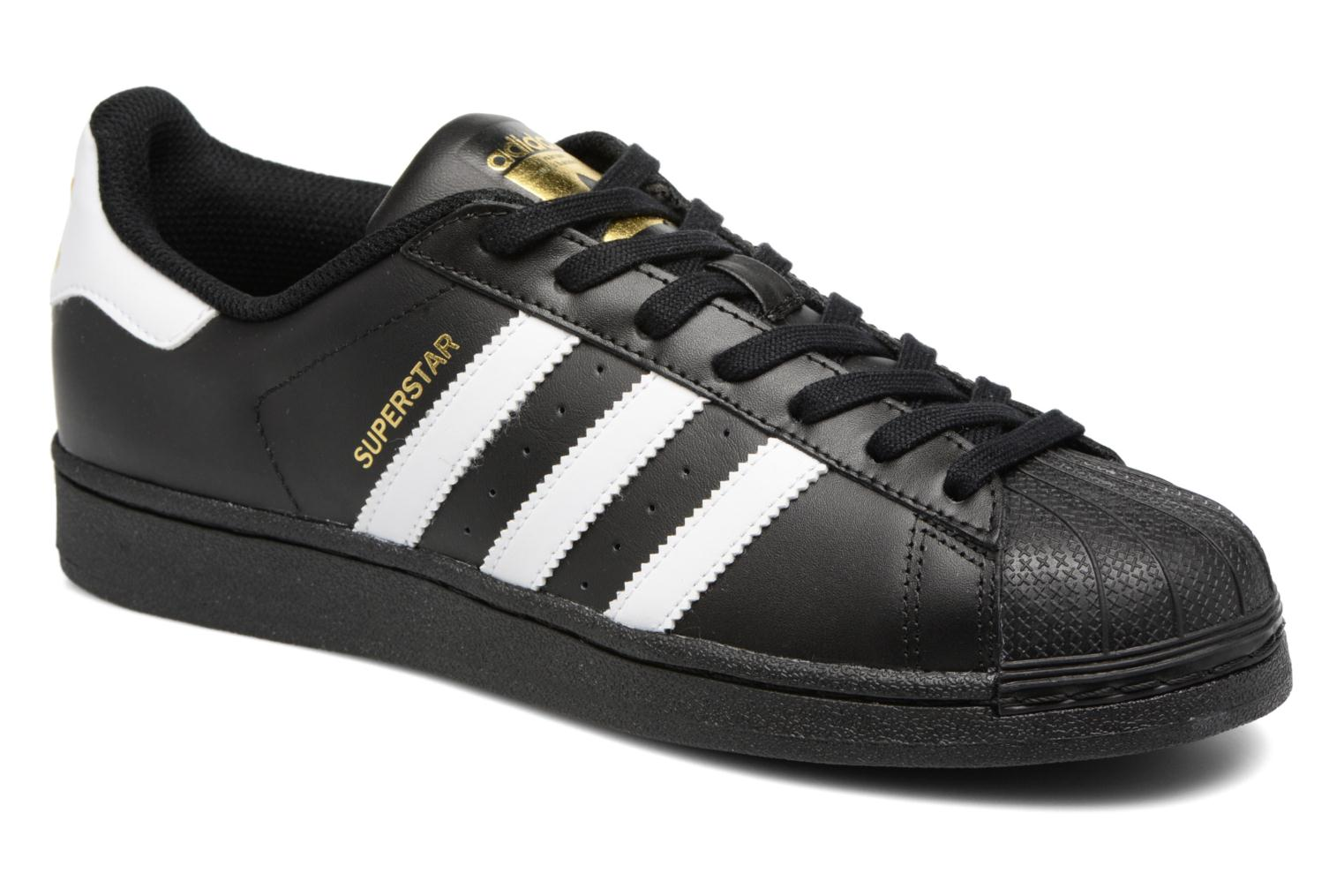 Baskets Adidas Originals Adidas Superstar Foundation Noir vue détail/paire