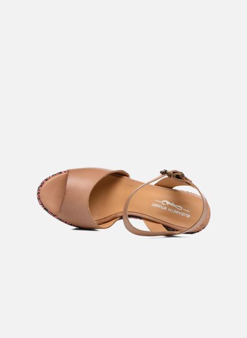 Sandales Elizabeth Nu Raffia Stuart Fuxia Cuoio Blanche Et pieds KJ1Flc