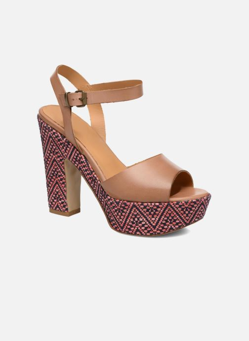Sandales et nu-pieds Elizabeth Stuart Blanche Marron vue détail/paire