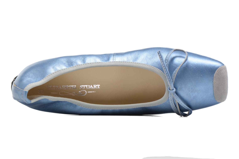Ballet pumps Elizabeth Stuart Lacq 391 Blue view from the left