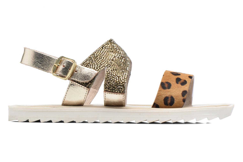 Sandales et nu-pieds Elizabeth Stuart Paris 874 Or et bronze vue derrière