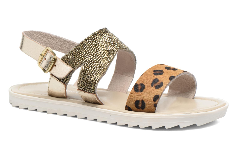 Sandales et nu-pieds Elizabeth Stuart Paris 874 Or et bronze vue détail/paire