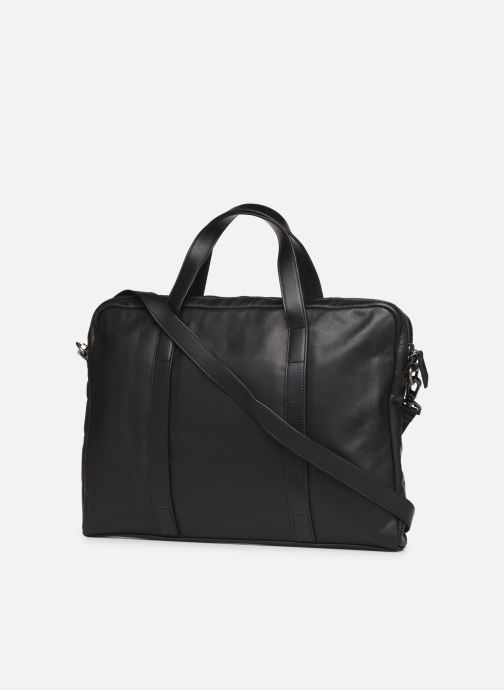 Laptop cases Antonyme by Nat & Nin Sac Ordinateur Marius Cuir Black view from the right