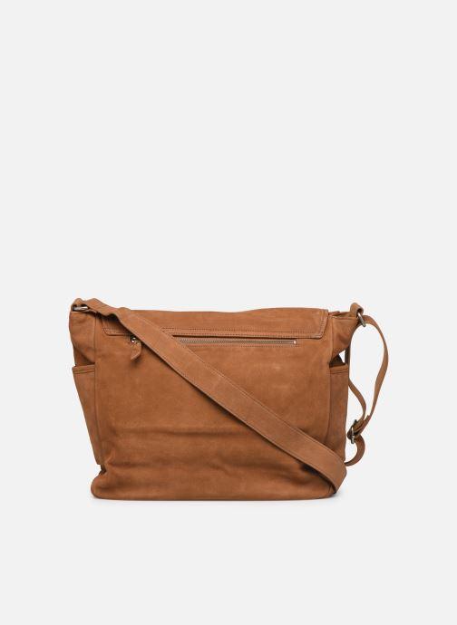 Men's bags Antonyme by Nat & Nin Messenger James Cuir Brown front view