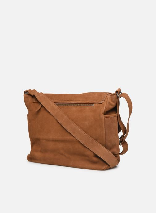 Men's bags Antonyme by Nat & Nin Messenger James Cuir Brown view from the right