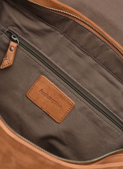 Men's bags Antonyme by Nat & Nin Messenger James Cuir Brown back view