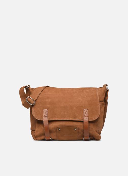 Men's bags Antonyme by Nat & Nin Messenger James Cuir Brown detailed view/ Pair view