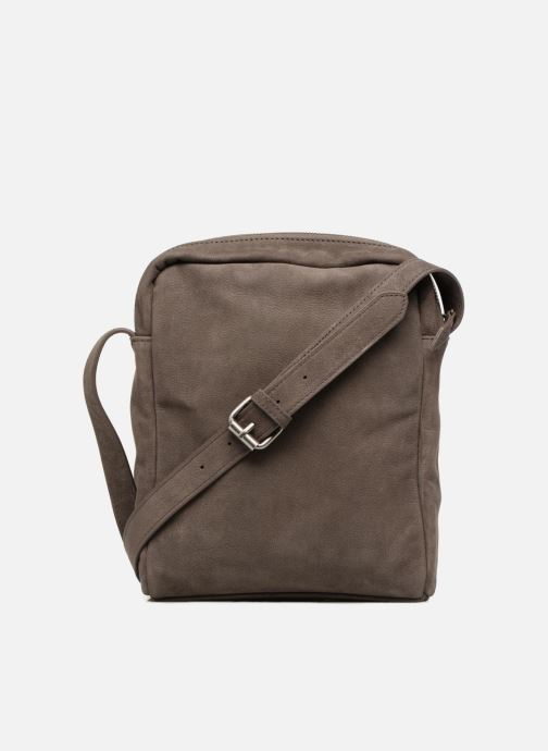 Men's bags Antonyme by Nat & Nin Porté travers Cuir Lucien Brown front view