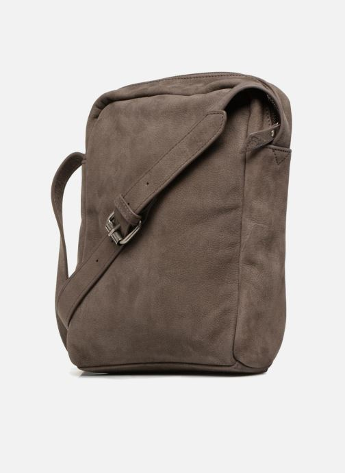 Men's bags Antonyme by Nat & Nin Porté travers Cuir Lucien Brown view from the right