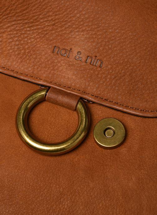 Bolsos de mano Nat & Nin Anja Marrón vista lateral izquierda