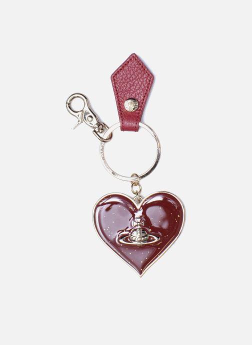 Petite Maroquinerie Vivienne Westwood Porte-clés Miroir Cœur Rouge vue détail/paire