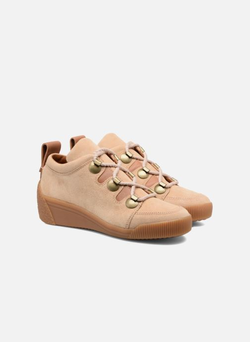 Zapatos con cordones See by Chloé Inna Beige vista 3/4