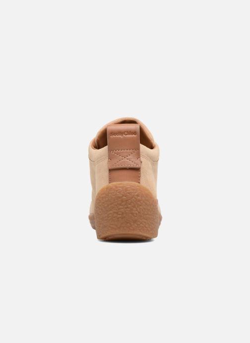 Zapatos con cordones See by Chloé Inna Beige vista lateral derecha