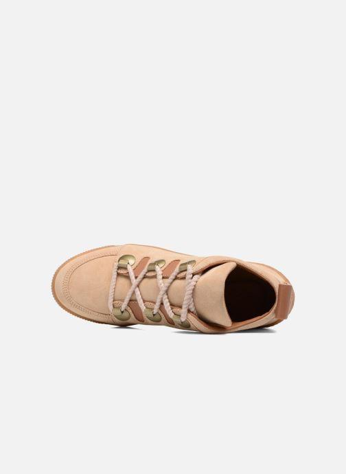 Zapatos con cordones See by Chloé Inna Beige vista lateral izquierda