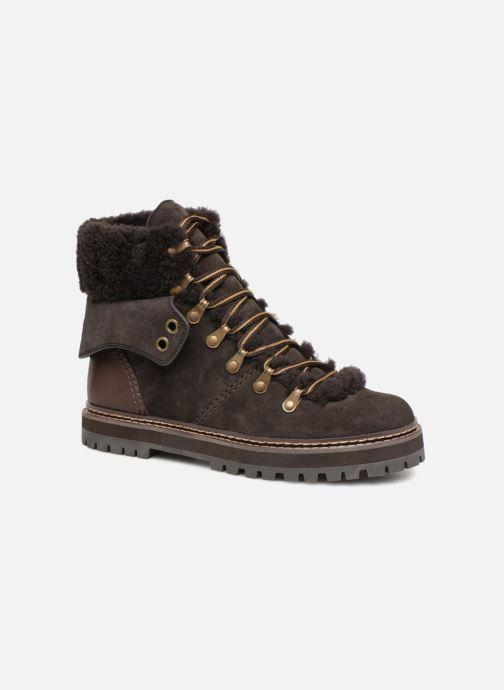 Bottines et boots See by Chloé Eileen Gris vue détail/paire