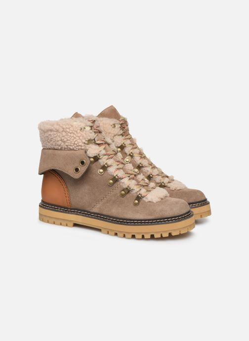 Bottines et boots See by Chloé Eileen Beige vue 3/4