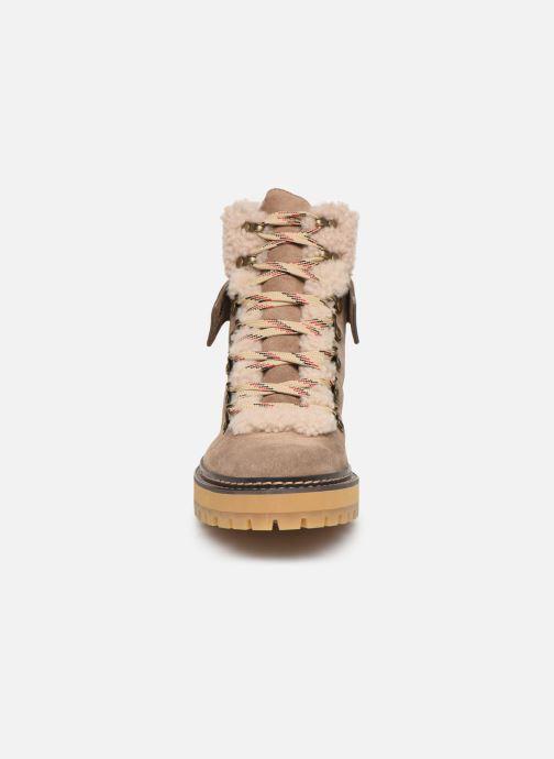 Bottines et boots See by Chloé Eileen Beige vue portées chaussures