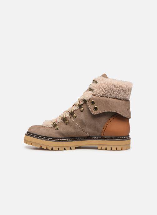 Bottines et boots See by Chloé Eileen Beige vue face