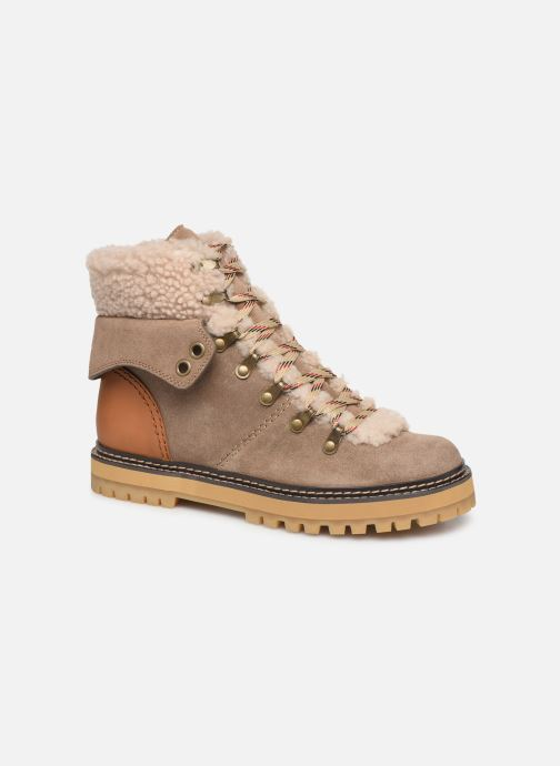 Bottines et boots See by Chloé Eileen Beige vue détail/paire