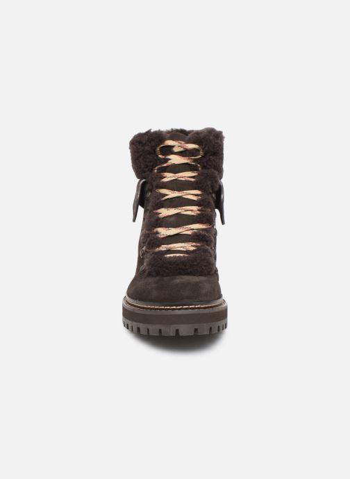 Bottines et boots See by Chloé Eileen Marron vue portées chaussures