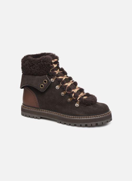 Bottines et boots See by Chloé Eileen Marron vue détail/paire