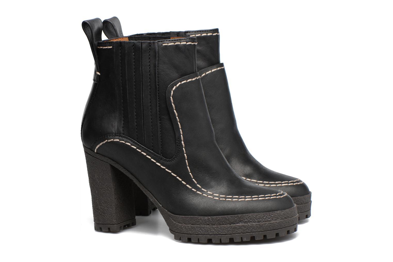 Bottines et boots See by Chloé Tanya Noir vue 3/4