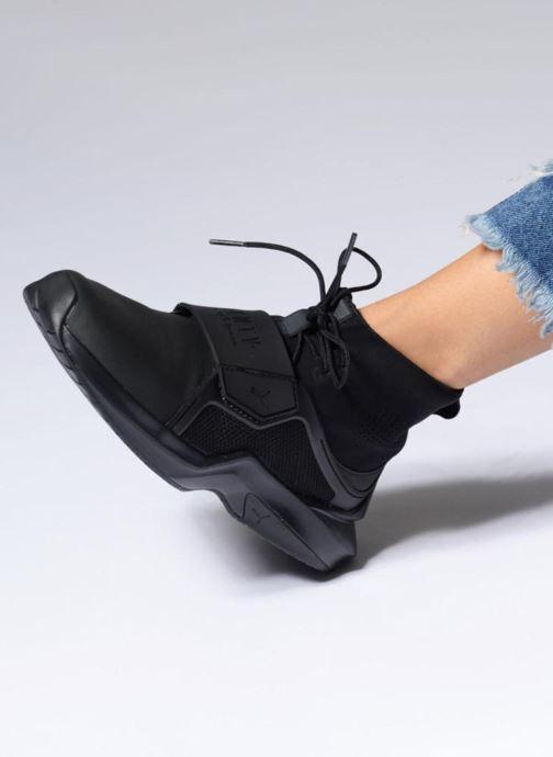 Sneaker Puma FENTY TRAINER WN schwarz ansicht von unten / tasche getragen
