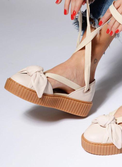 Sandales et nu-pieds Puma FTY BOW CREEPER SAND Beige vue bas / vue portée sac