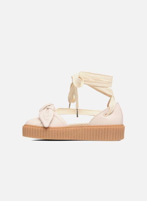Sandalen Puma FTY BOW CREEPER SAND Beige voorkant
