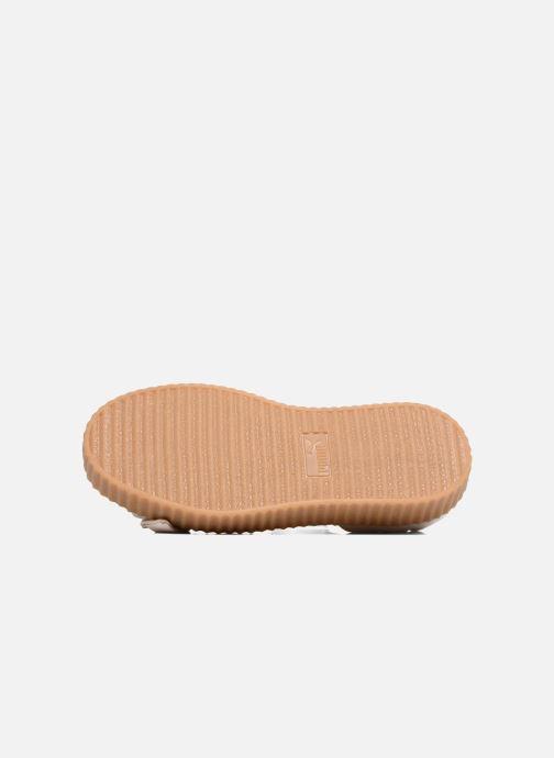Sandales et nu-pieds Puma FTY BOW CREEPER SAND Beige vue haut