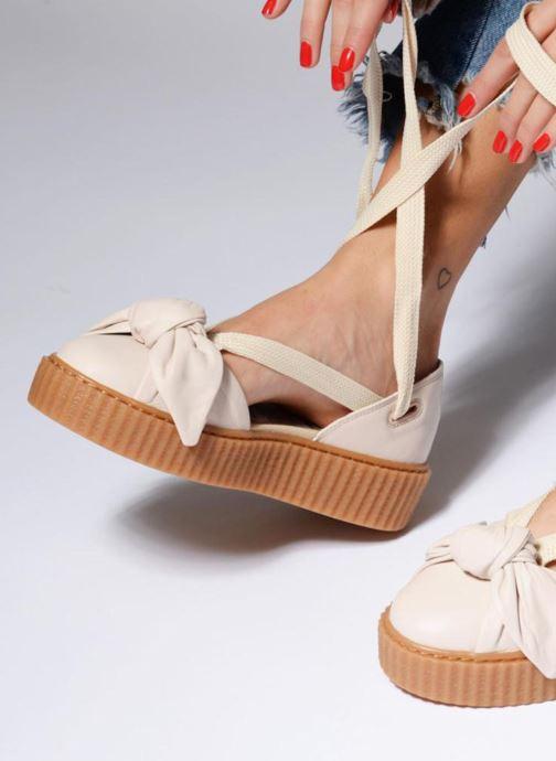 Sandales et nu-pieds Puma FTY BOW CREEPER SAND Marron vue bas / vue portée sac