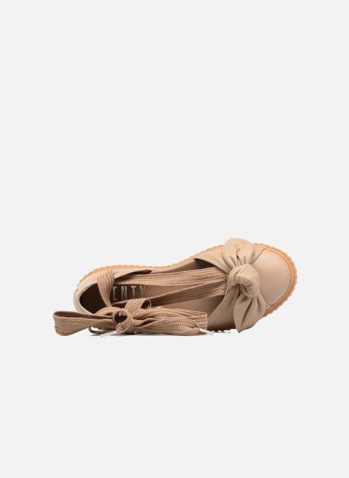 Sandales et nu-pieds Puma FTY BOW CREEPER SAND Marron vue gauche