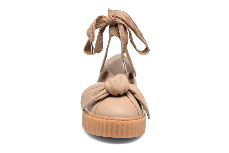 Sandales et nu-pieds Puma FTY BOW CREEPER SAND Marron vue portées chaussures
