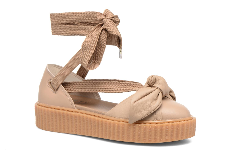 Sandales et nu-pieds Puma FTY BOW CREEPER SAND Marron vue détail/paire