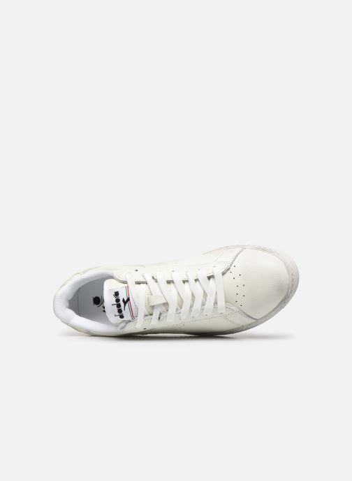 Baskets Diadora GAME L LOW WAXED Blanc vue gauche