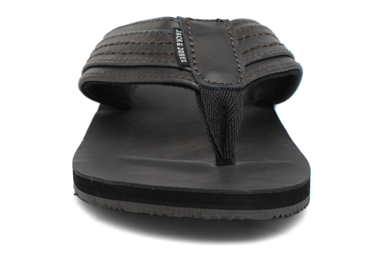 Flip flops Jack & Jones Bob leather sandal Grey model view