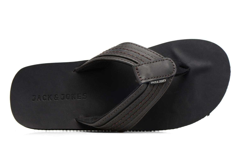 Flip flops Jack & Jones Bob leather sandal Grey view from the left