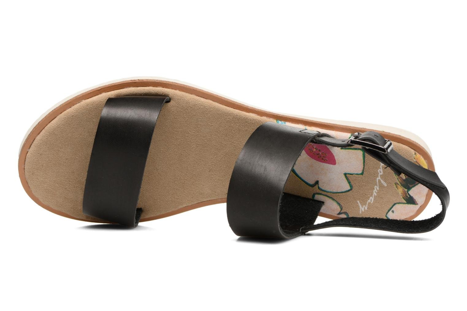 Sandals Coolway Morel Black view from the left